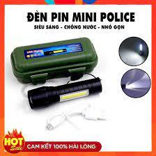 Đèn Pin siêu sáng loại nhỏ bỏ túi hoặc cài áo có zoom chiếu xa rất sáng và  pin lâu - Đèn pin Hãng No brand