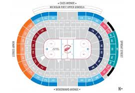 Detroit Red Wings Stadium Seating Chart Detroit Red Wings Powered By Spinzo