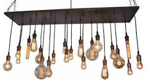 rustic edison bulb chandelier antique white brass suspended