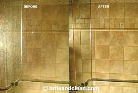 removing water spots from glass clean water spots off glass shower doors remove hard water stains