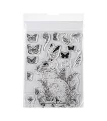 Pink Ink Designs Stencils Pink Ink Designs A5 Clear Stamp Set Meadow Hare