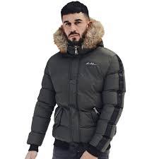 4bidden alder fur hooded er jacket khaki