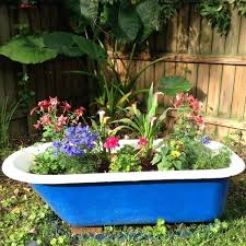 tub gardening garden tub i might do this instead of using my tub as a cooler tub gardening