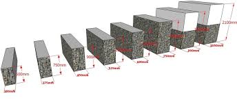 Small Picture Gabion Retaining Wall Profiles Gabion Standard designs Gabion1 UK