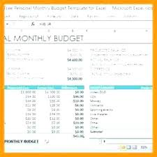 Monthly Budget Excel Spreadsheet Template New Bud Free Download ...