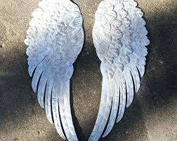 full size of angel wing wall decor large metal wings appealing shabby chic wooden for