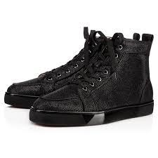 Glitter Bottom Shoes Designer Christian Louboutin Rantus Orlato Mens Flat Black Glitter
