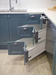View in gallery Kitchen corner drawer system from Blum with a design that  matches the cabinets next to it