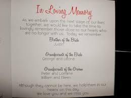 how to include deceased parent on wedding program | Image Source ... via Relatably.com