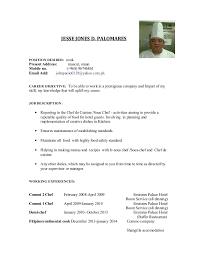 JESSE JONES D. PALOMARES POSITION DESIRED: cook Present Address: muscut, ...