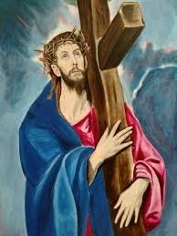 christ carrying his cross after el greco lent 2017