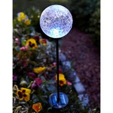 Crackle Glass Globe Solar Lights Details About Glass Globe Pathway Stake Light 35 In Solar Led Multi Color Garden Yard Walkway