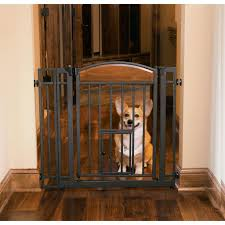 dog gates for house. Design Studio Walk-thru Gate With Small Pet Door Dog Gates For House O