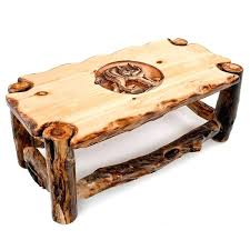 carved coffee tables carved aspen wildlife coffee table chainsaw carved coffee tables