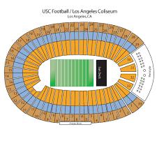 Los Angeles Coliseum Seating Chart La Coliseum Usc Football Seating Chart Www
