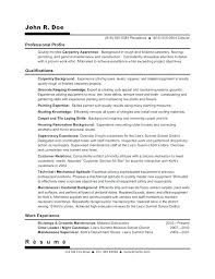 Resume Objective Examples For Construction Best Of Journeyman Resume Carpenter Objective Example Will Give Template