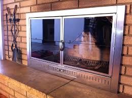 fireplace glass doors fireplace glass doors ideas fireplace glass doors open or closed