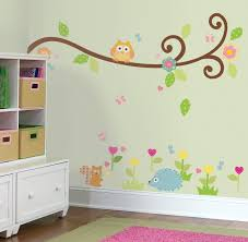 Owl Bedroom Wallpaper Happi Baby Scroll Tree Branch Wall Stickers Girls Wall Stickers