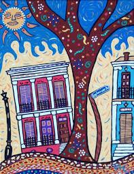 new orleans original painting 11 x 14 prytania street folk art