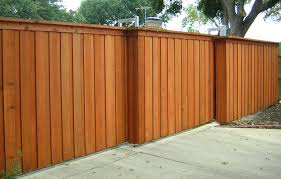 mesmerizing wood fence designs painted in brown and look suitable with concrete carpot painted privacy fence t34