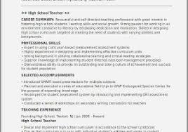 Sample Resume For High School Math Teacher Inspirational Tutor