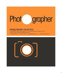 Photography Business Card Template Design For Personal Photographer