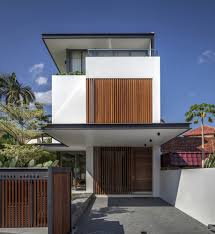 Architecture:Excelent Architectural House Design With Wooden Facade  Exsposed And Minimalist On Shape Building Modern