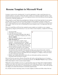 Microsoft Word 2003 Resume Template Professional Free Ms With Re