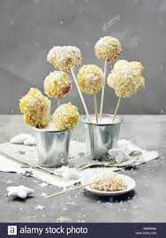 Orange Coconut Cake Pops Stock Photo 280852250 Alamy