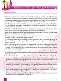 Exemples De Textes Pour Faire Part De Mariage Pdf