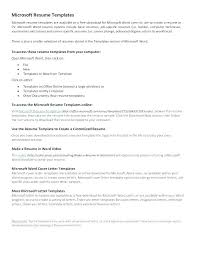 Microsoft Office Resume Templates Inspiration Good How To Create A Cover Letter In Word And Microsoft Office