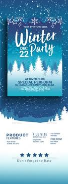 Winter Party Flyer | Flyer Templates | Pinterest | Winter Parties ...