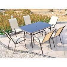 san antonio 7 piece outdoor dining set