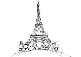 Small Picture Eiffel Tower from Distance Coloring Page Eiffel Tower from