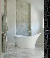 Wall Decor Cozy Soaking Tub With Walker Zanger Tile And Marble
