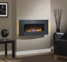 com classicflame 34hf601ara a004 transcendence 34 wall mounted electric fireplace brushed aluminum home kitchen
