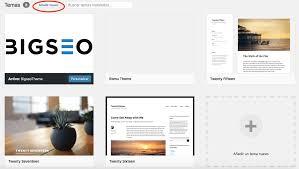 también puedes recurrir al directorio de temas de wordpress descargar el que elijas y subirlo a tu sitio web