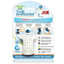 tubshroom revolutionary hair catcher drain protector for tub drains no more clogs white com