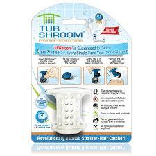 tubshroom revolutionary hair catcher drain protector for tub drains no more clogs white com