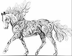 Adult Coloring Page Indian Horse