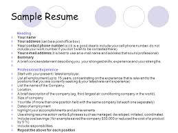 Address And Phone Number List Sample Resume Heading Your Name Your Address Can Be A Post Office