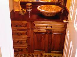 Pine Bathroom Cabinet Cabinet Creations Archived A Bathroom Vanities A Stained Pine