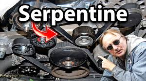 how to replace a serpentine belt in your car fan belt how
