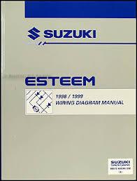 1998 1999 suzuki esteem wiring diagram manual original