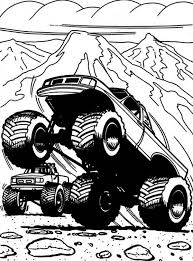 Captains Curse Monster Truck Coloring Page Download Print