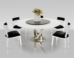 charming modern round dining table for 6 23 60 in incredible set with leaf sophia inside 13