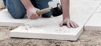 laying paving slabs on soil how to guide
