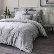 velvet grey plain satin duvet cover