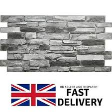 grey stone effect pvc plastic wall