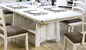 farmhouse dining table set white distressed dining room table white awesome set intended for kitchen table